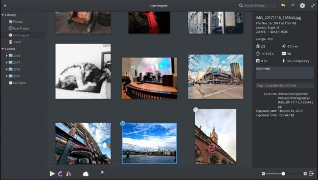 elementaryOS przeglądarka zdjęć